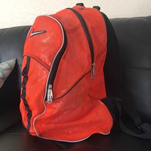 638a67895419 Nike Bags - 🎒Nike Brasilia orange Mesh Backpack 🎒